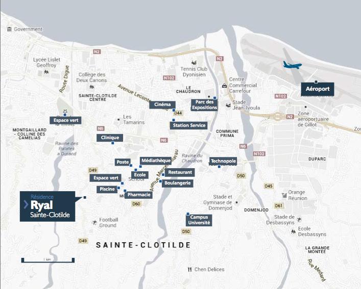 plan situation résidence ryal