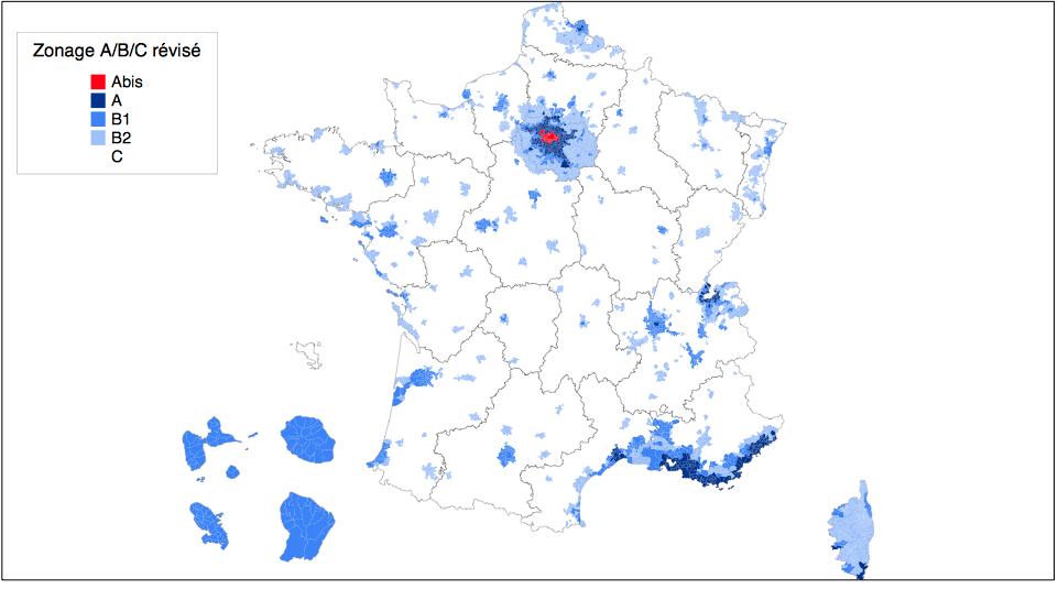 carte zonage duflot 07 2014
