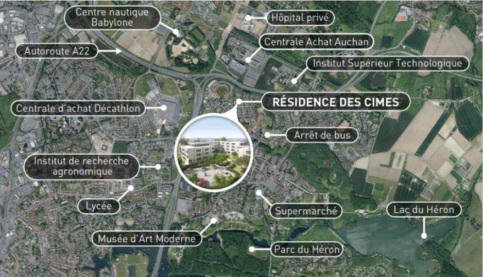 defiscalisation pinel plan situation vue aerienne villeneuve d'ascq