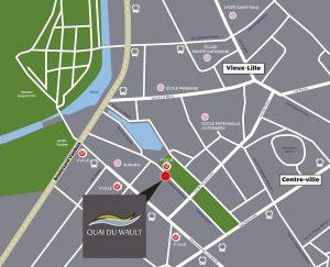 plan quai du wault Pinel Lille