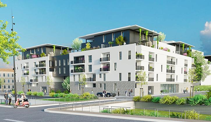 CARRE PALASCIO : un programme neuf éligible PINEL pour investir à Nîmes